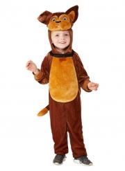 Süßes Hundekostüm für Kinder Fasching Tier-Overall braun