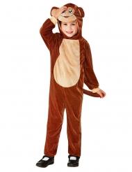 Affenkostüm für Kinder Tier-Overall für Fasching braun-beige