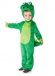 Krokodil-Kinderkostüm Overall für Fasching Tier-Verkleidung grün