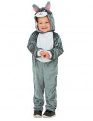 Kaninchen-Kostüm für Kinder Karnevalskostüm grau-weiss