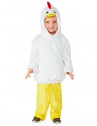 Küken-Kostüm für Kinder Faschingskostüm weiss-gelb-rot