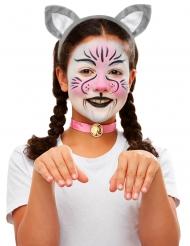 Katze Schmink- und Accessoireset für Kinder bunt
