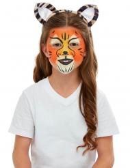 Tiger Make-up und Zubehör-Set für Kinder bunt