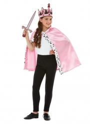 Prinzessinnen-Accessoire für Mädchen Kostüm-Set für Fasching 3-teilig rosa