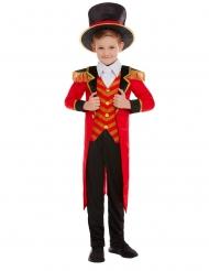 Dompteur-Kinderkostüm Zirkusdirektor Faschings-Verkleidung rot-schwarz-goldfarben