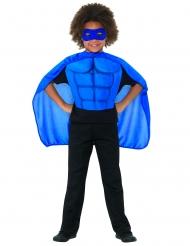 Superhelden-Set für Kinder mit Cape und Maske blau