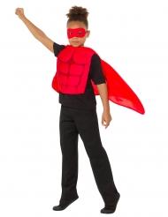 Superhelden-Kit für Kinder Faschingskostüm 3-teilig rot