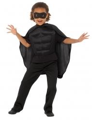 Superhelden-Kit für Kinder Karnevalskostüm 3teilig schwarz
