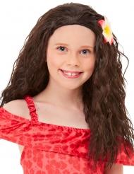 Hawaii-Perücke für Mädchen Faschings-Zubehör braun