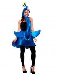 Pfauenkostüm für Damen tierische-Verkleidung für Fasching blau