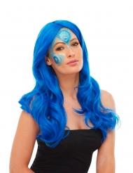 Pfauen-Schminkset 3-teilig Tier Make-up für Fasching blau