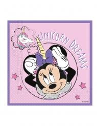 Süße Minnie und das Einhorn™ Papierservietten 20 Stück bunt 33 x 33 cm