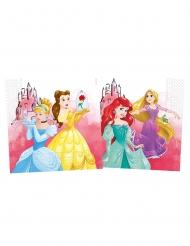 Hübsche Disney™-Servietten Prinzessinnen 20 Stück Tischdeko bunt 33 x 33 cm