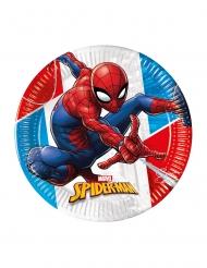Coole Spiderman™-Pappteller 8 Stück bunt 23 cm