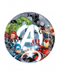 Helodenhafte Avengers™-Pappteller Tischdekoration 8 Stück bunt 23cm