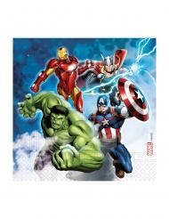 Heldenhafte Avengers™-Servietten Tischzubehör 20 Stück bunt 33 x 33 cm