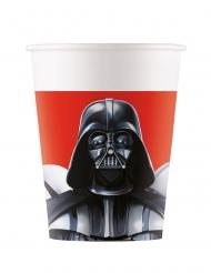 Star Wars Final Battle™-Trinkbecher Partyzubehör 8 Stück schwarz-weiss-rot 200 ml