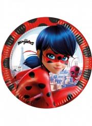 Coole Ladybug™-Pappbecher 8 Stück bunt 23 cm
