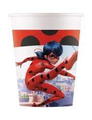 Ladybug™-Trinkbecher Partyzubehör Miraculous™ 8 Stück bunt 200 ml