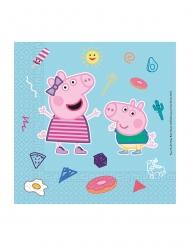 Peppa Wutz™-Papierservietten Tischdeko für den Kindergeburtstag 20 Stück bunt 33x33cm
