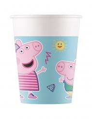 Peppa Wutz™-Trinkbecher Tischdeko für Geburtstage 8 Stück bunt 200 ml