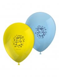 Peppa Wutz™-Ballons für einen Kindergeburtstag 8 Stück gelb-blau 26 cm