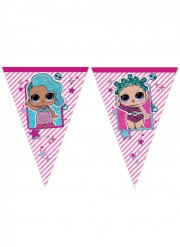 LOL™ Wimpel-Girlande für Kinder bunt 2,3 m