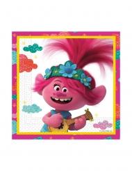 Trolls2™-Servietten Tischdekoration für Geburtstage 20 Stück weiss-rosa 33x33 cm