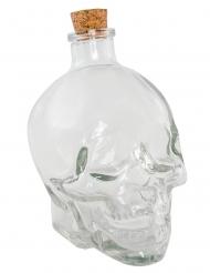 Totenschädel-Flacon Partydekoration für Halloween transparent 14 cm