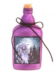 Tödliche Elixierflasche mit Korken Halloween-Deko lila 19 cm