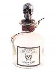 Deko-Flasche Partydeko für Halloween Arsen-Flasche silber-rot 16 cm