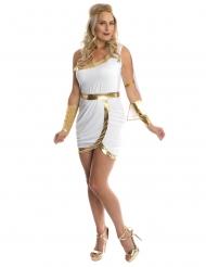 Antike Göttin Damenkostüm für Fasching weiss-goldfarben