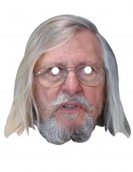 Dr. Raoult Pappkarton-Maske für Erwachsene beige-weiss