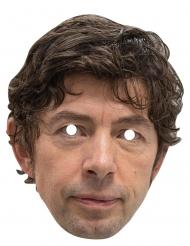 Drosten-Pappmaske witzige Maske hautfarben-braun