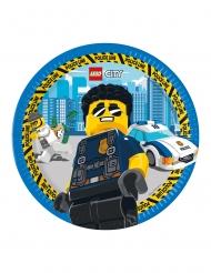 Lego City™-Pappteller Tischdekoration FSC® 8 Stück bunt 23 cm