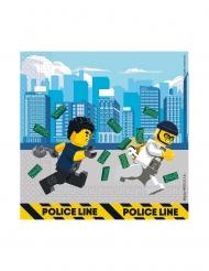 Lego City™-Servietten Tischzubehör für Geburtstage FSC® 20 Stück bunt 33 x 33 cm