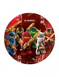 8 Ninjago™ Teller aus FSC® Pappkarton Lego 23 cm