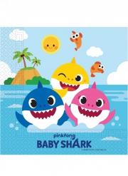 Baby Shark™ Papierservietten FSC® 20 Stück bunt 33 x 33 cm