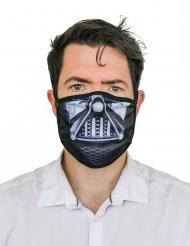 Gesichtsmaske dunkler Herrscher Accessoire für Erwachsene schwarz-weiss