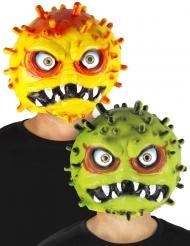 Fiese Coronavirus-Maske für Erwachsene gelb oder grün