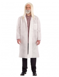 Covid Wissenschaftler-Kostüm für Erwachsene weiss