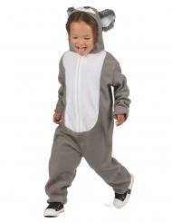 Warmes-Koala-Kostüm für Kinder Tier-Overall Karneval grau-weiss