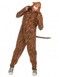 Kuscheliges Tiger-Kostüm Herren-Verkleidung für Karneval schwarz-orange-weiss