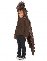 Schuppentier Pangolin-Kostüm für Kinder Faschings-Verkleidung braun