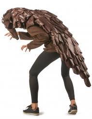 Lustiges Schuppentier-Kostüm für Erwachsene Faschings-Verkleidung braun