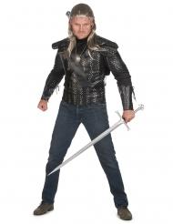 Cosplay Hexer-Kostüm Halloween-Verkleidung schwarz-silberfarben