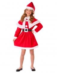 Mädchen Weihnachtsmann-Kostüm für Kinder rot-weiss-schwarz