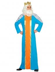Zauberer König Magier weiser Mann Kostüm für Erwachsene Blau Orange