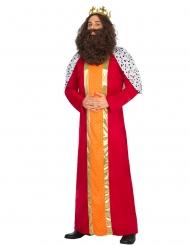 König Magier Kostüm für Erwachsene Rot Gold