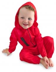Bankräuber-Kostüm für Babys diebisches Kostüm für Kleinkinder rot-schwarz